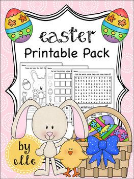 Easter math and literacy activities for primary students!Easter is here and your students will love these Easter themed math and literacy activities. This pack covers a wide range of skills and is perfect for kiddos in kindergarten, first, or second grade.