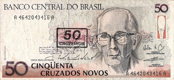 50 CRUZEIROS 1990 BRAZILIAN.... I love baknotes... And i want to collect them...