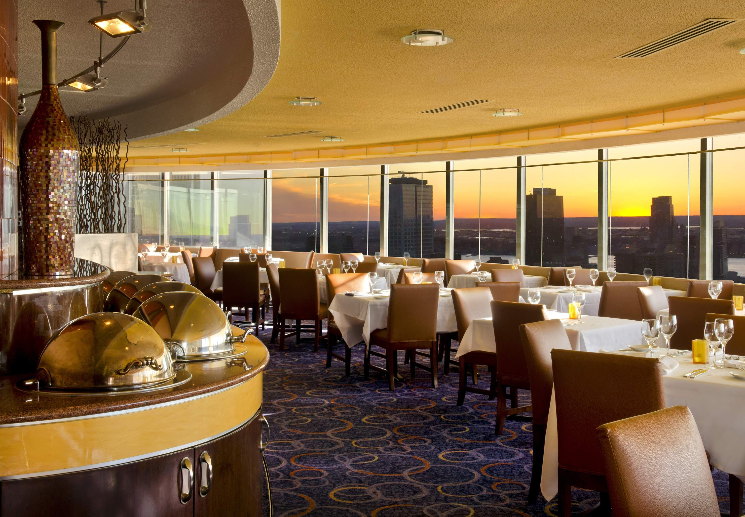 Cucina Revolving Restaurant The View Is Formal Fine Dining Experience Featuring A Lunch