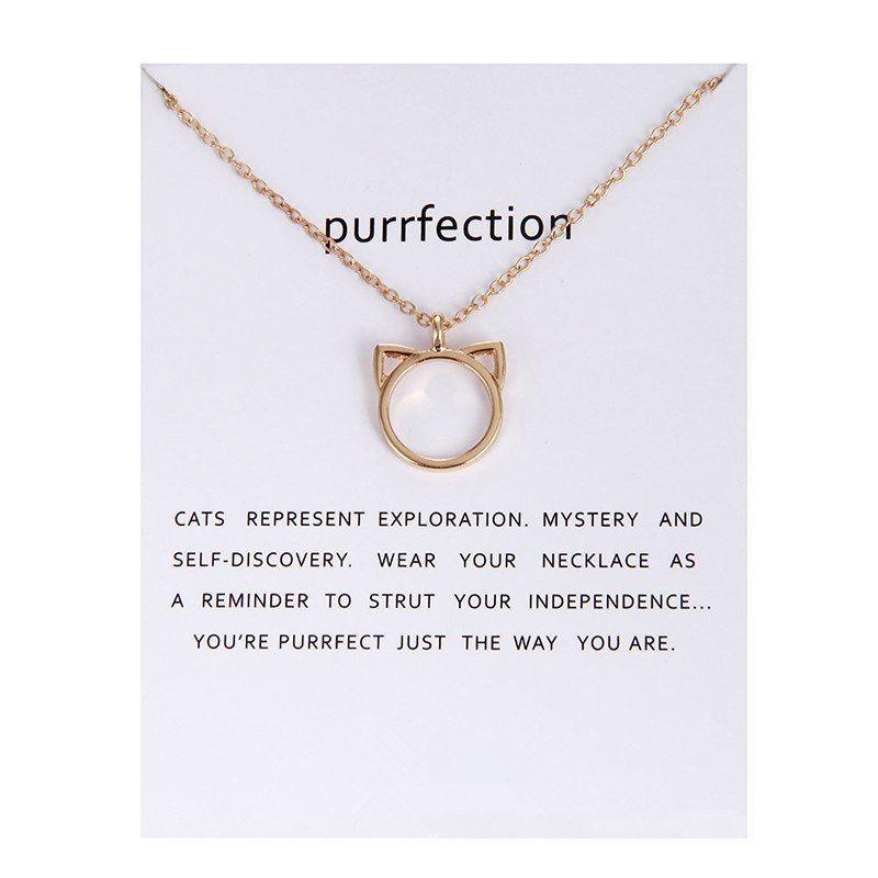 Buy trend gold coloration purrfection cat ear pendant