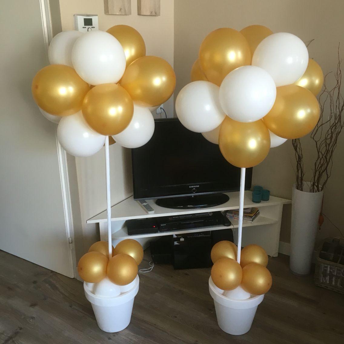 Ballonnen in pot 50 jaar getrouwd 50 jaar pinterest for Decoratie 60 jaar