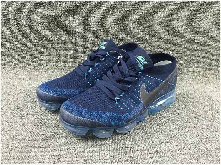 a59fc7f045fff ... Nike Flyknit Air VaporMax 2018 Mens Running Shoes Navy4 ...