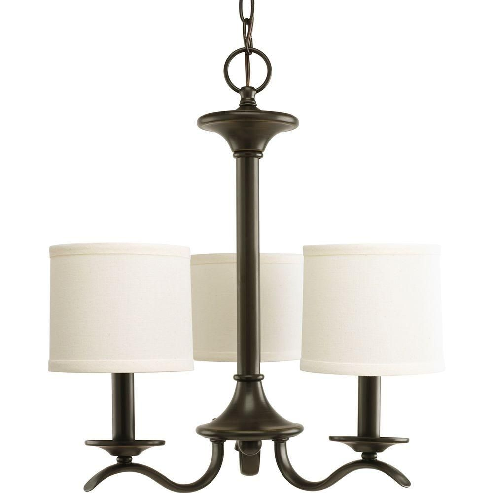 Progress Lighting Inspire Collection 3 Light Antique: Progress Lighting Inspire 3-Light Antique Bronze