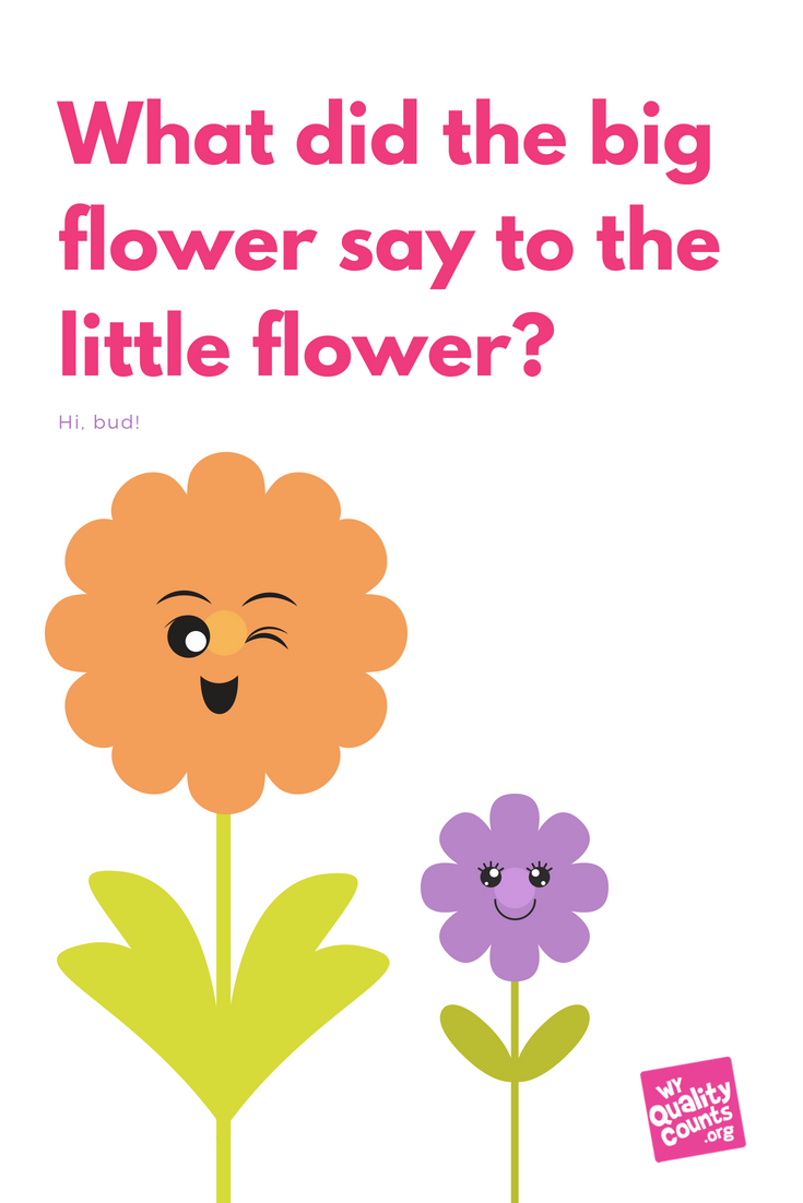 silly kid jokes toddler jokes what did the big flower