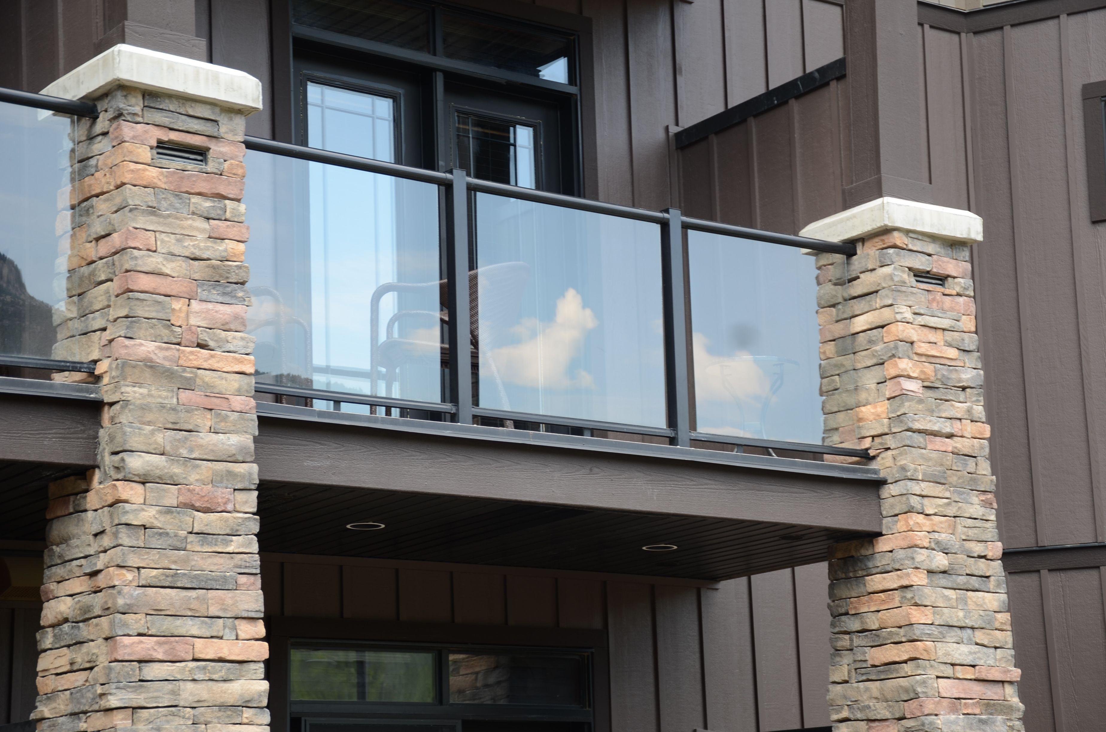 Glass Balcony Stone House Glass Railing Balcony With Stone