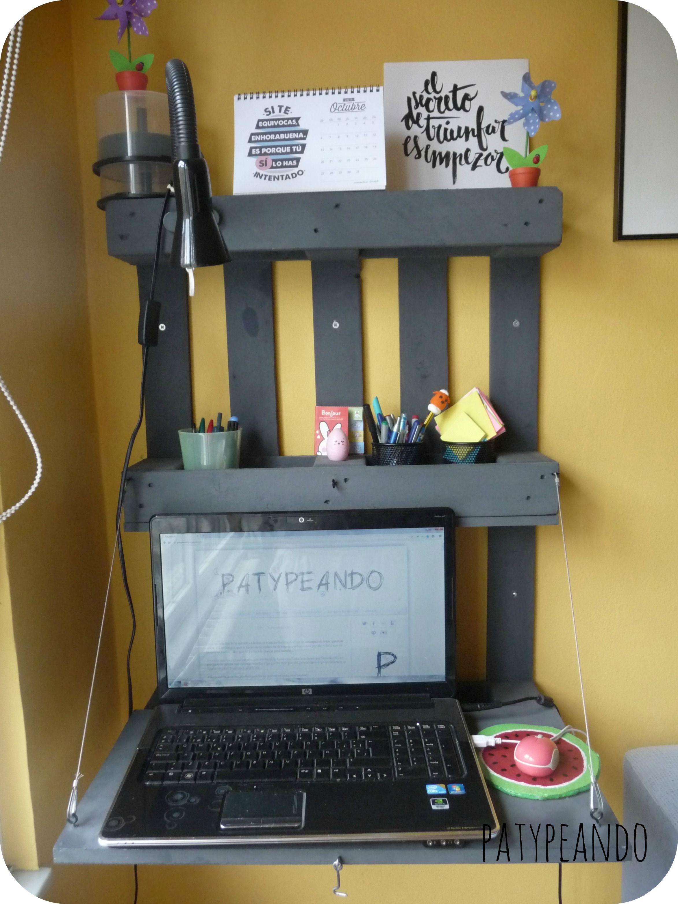 Diy escritorio a partir de un palet hacer bricolaje es - Escritorio de palets ...