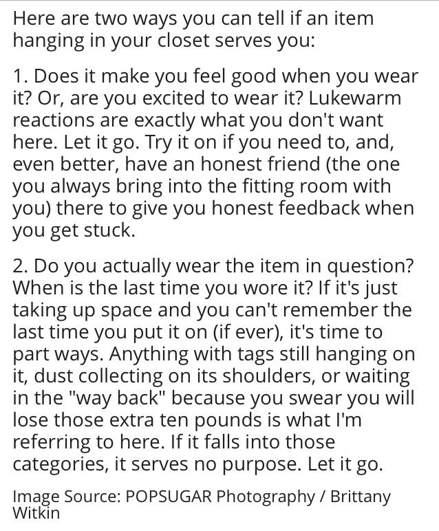 What to ask yourself when organizing your life and home...