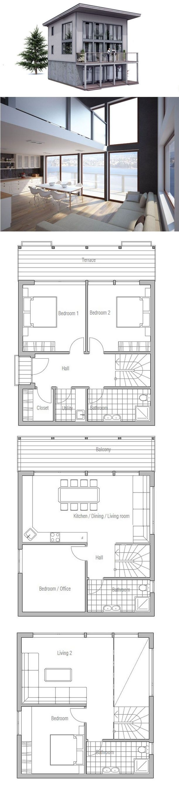 Small House Plan to tiny lot Drawings Pinterest Small house