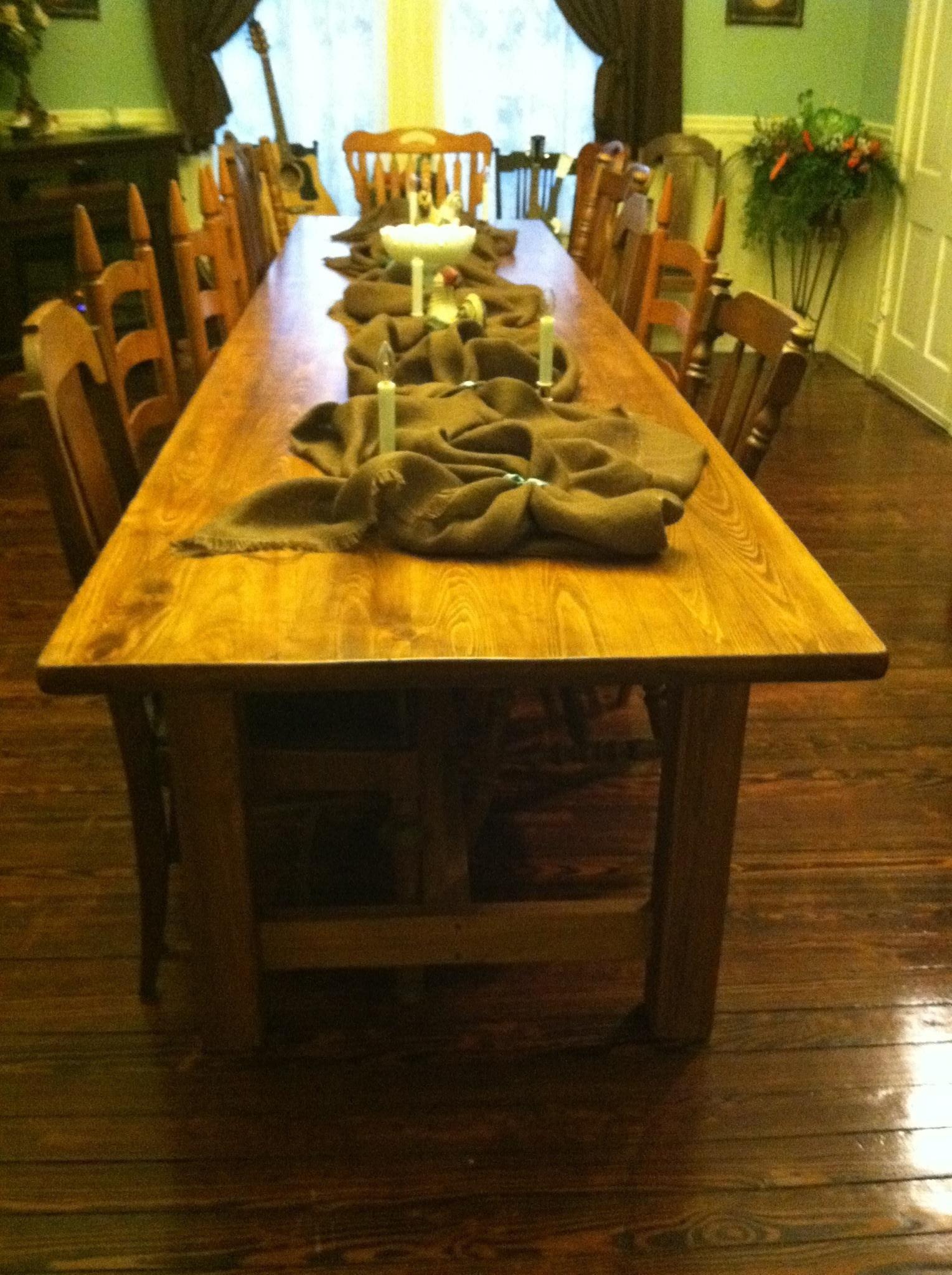 12u0027 X 3u0027 Farmhouse Style Cypress Dining Table.