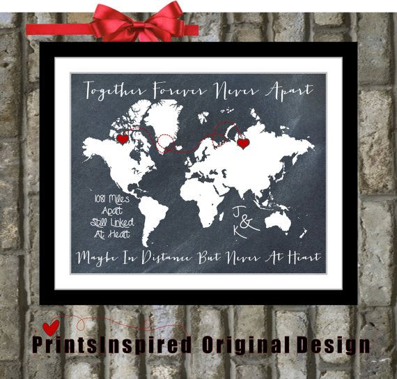 Chalkboard map design custom usa or world map gift locations hearts chalkboard map design custom usa or world map gift locations hearts names date quote travel gumiabroncs Images