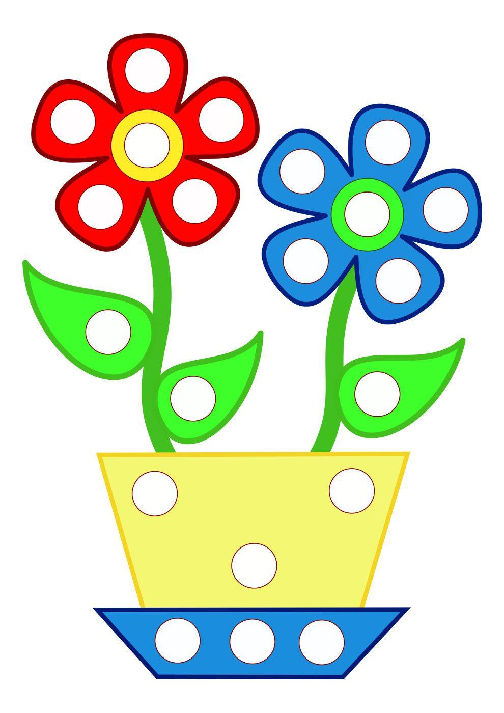 Décorer le pot de fleurs avec des gommettes | Playmaïs ou gommettes ...