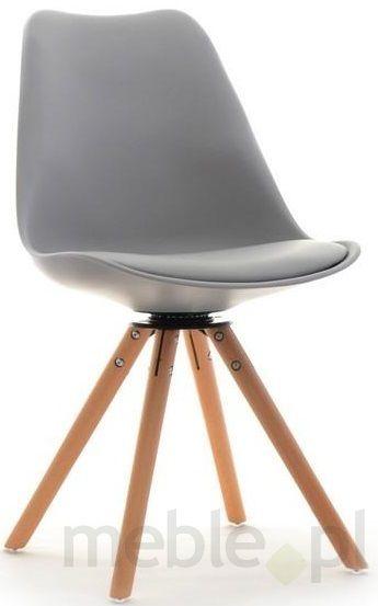 Krzesło Obrotowe Na Drewnianych Nogach Luis Rot Szare Restauracja