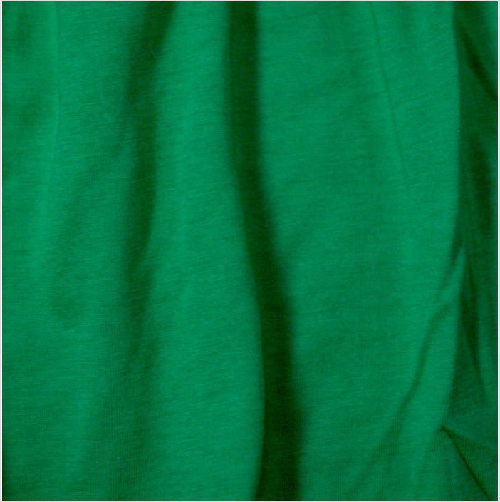 """1mtr Green stretch cotton T shirt fabric material size 59"""" wide Lot"""