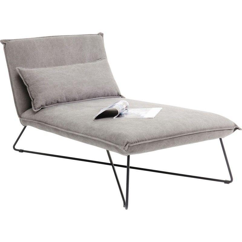 Modern Gray Lounge Chair Cornwall Kare Design Chaise Longue Chaise Longue Exterieur Chaise Longue Design