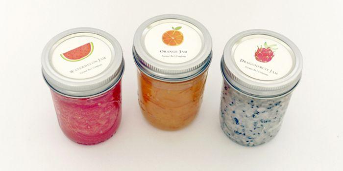 Fruit Jam Jar Label