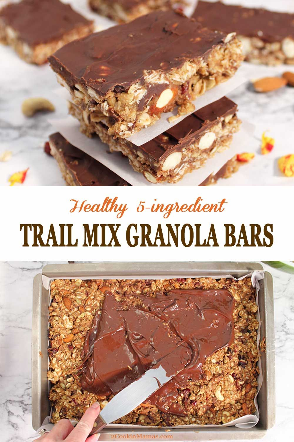 Healthy trail mix granola bars