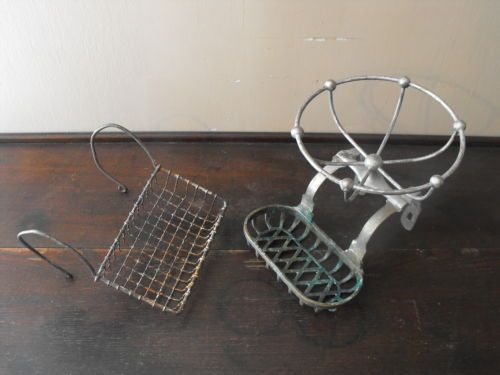 Old Vtg Antique Brass Wire Claw Foot Tub Bathroom Parts Repair