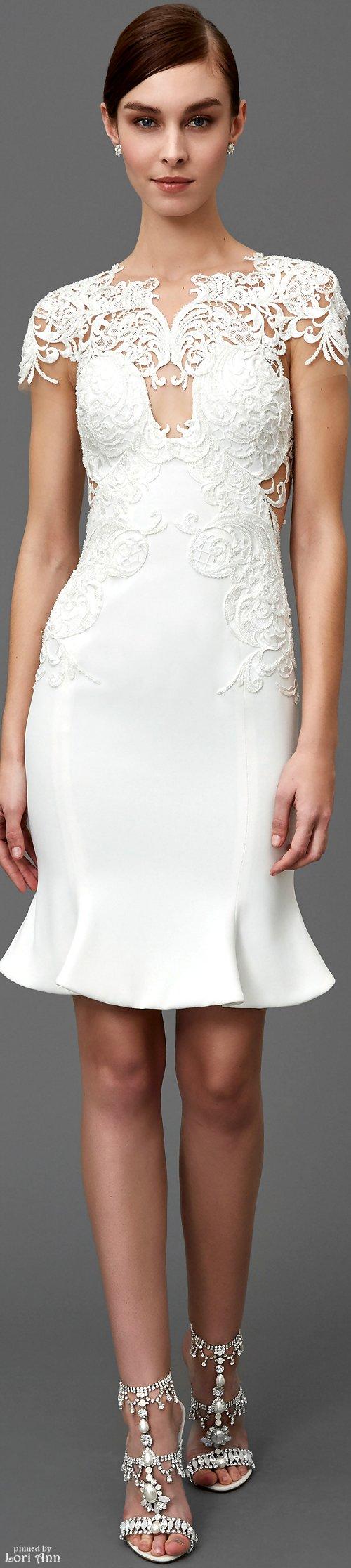 Maɽƈɧҽʂa prefall white lace dress women fashion outfit