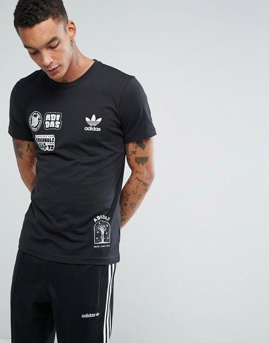 93c061b2236 ADIDAS ORIGINALS SEOUL PACK OFF PLACEMENT T-SHIRT IN BLACK BS3167 - BLACK.  #adidasoriginals #cloth #