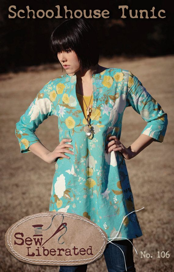 Schoolhouse Tunic PDF Sewing Pattern | Tunika Schnittmuster, Tuniken ...