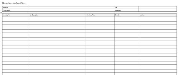 Inventory Control Template With Count Sheet Inventory Sheet - Restaurant Inventory Spreadsheet Template