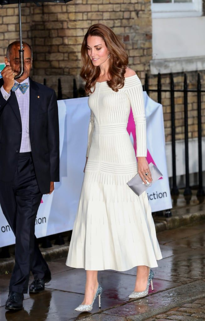Photo of Kate Middleton's White Dress and Sparkly Shoes Make Us Want