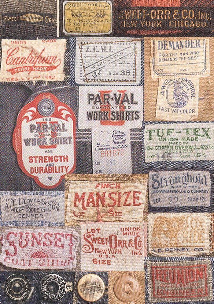 Mens Collections Vintage Labels Workwear Vintage Vintage Tags
