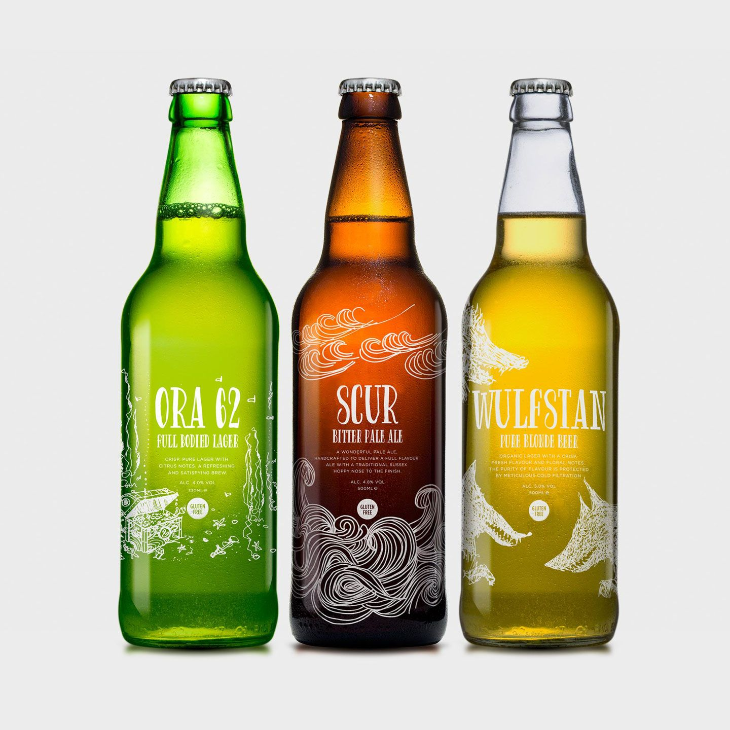 Visual identity and packaging for Coori Beer designed by Felt
