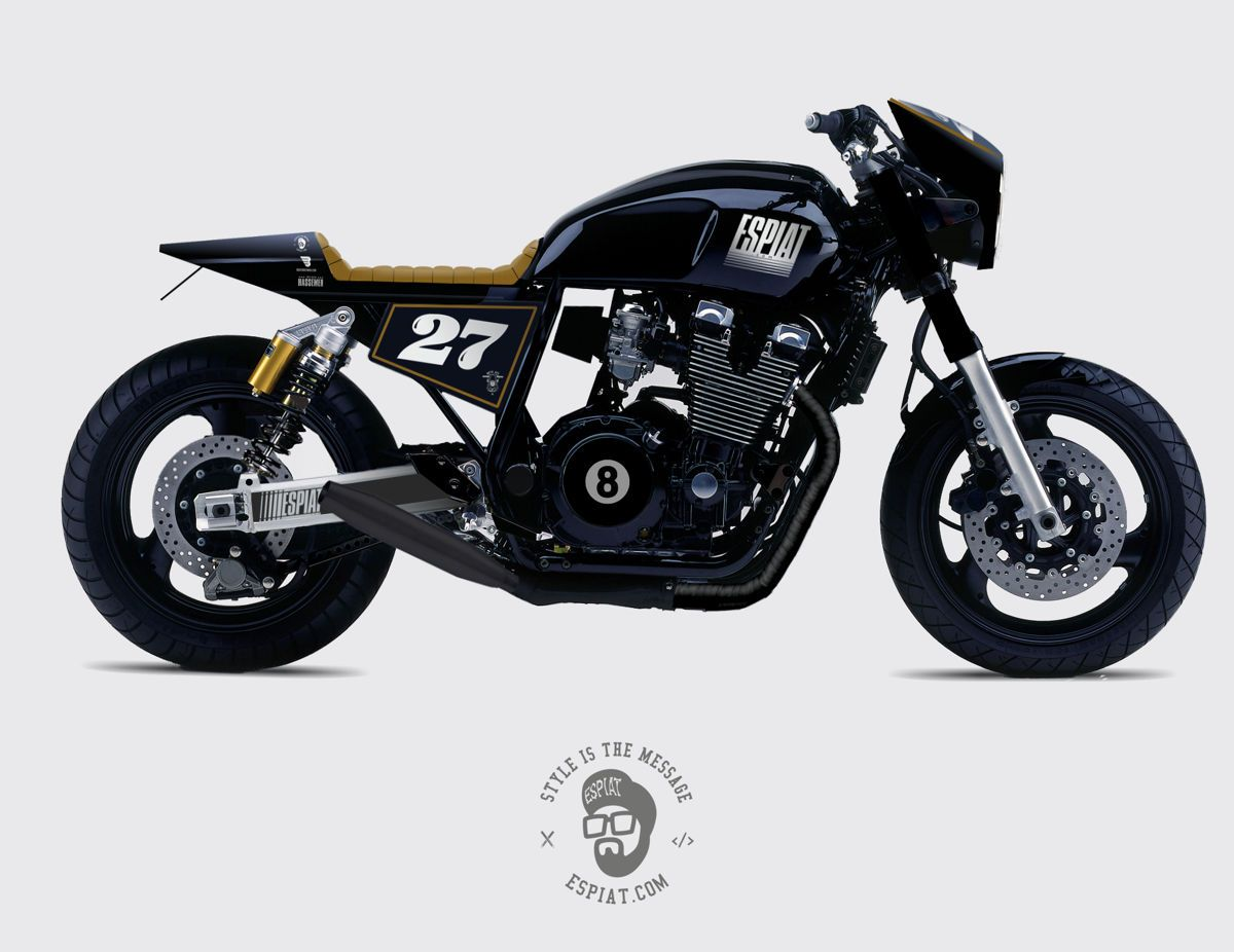 yamaha xjr cafe racer custom umbau by daniel schuh espiat. Black Bedroom Furniture Sets. Home Design Ideas