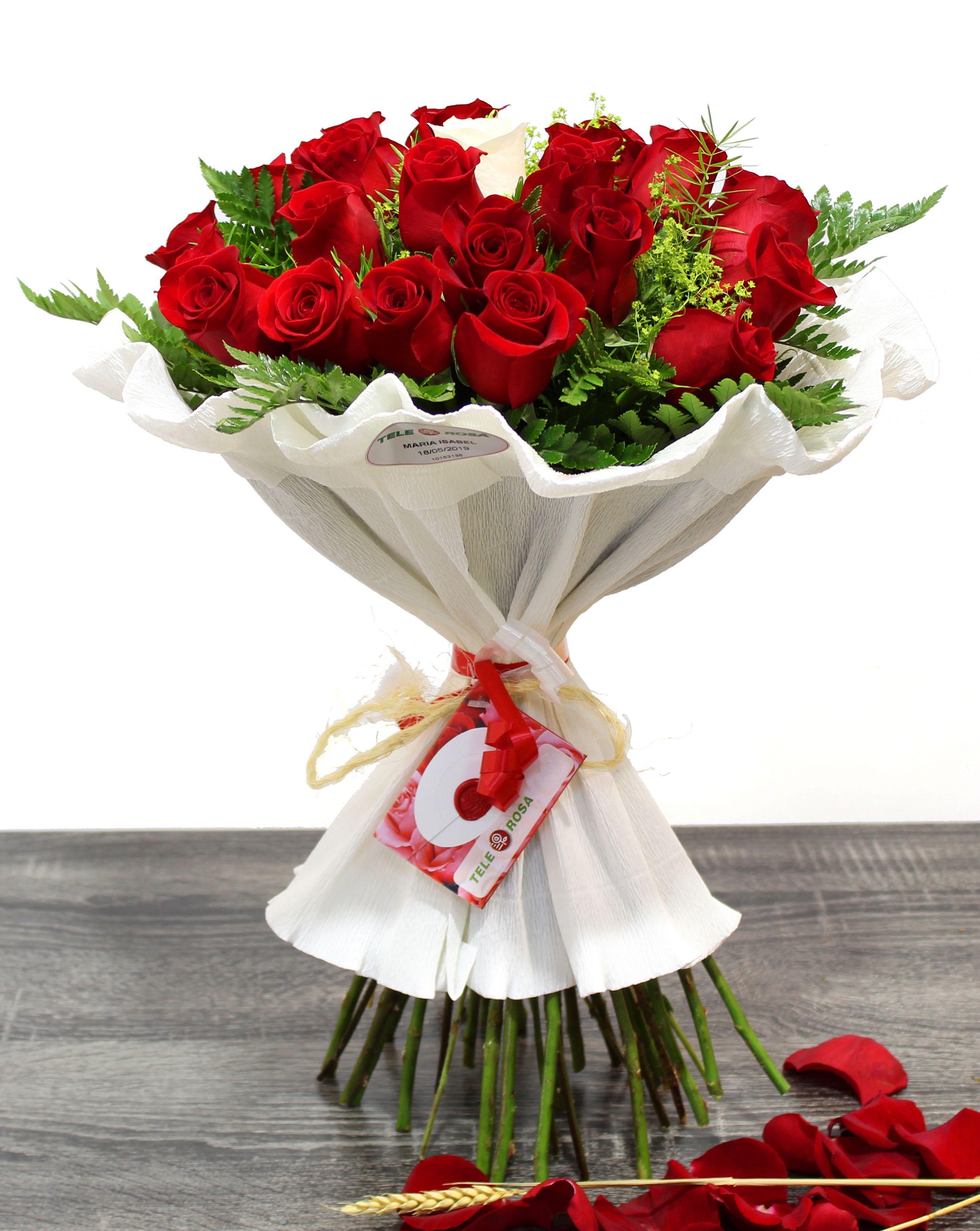 🌹 Ramo 25 ROSAS 🌹 | Rosas, Flores, Ramos de flores