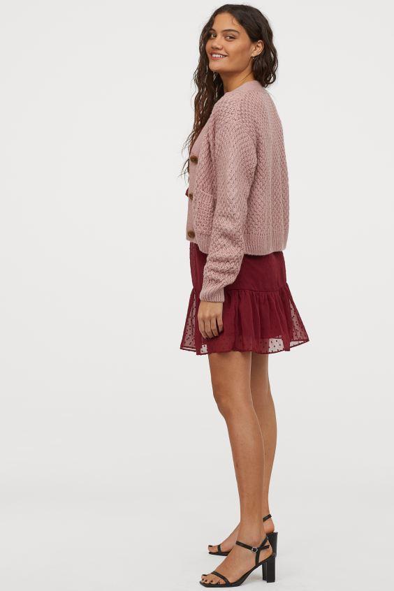 Schwerstrick Cardigan Altrosa Ladies H M De In 2020 Modestil Sommer Kleidung Mode