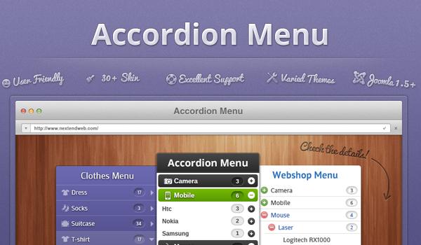 Joomla Module Nextend Accordion Menu All In One Joomla Wordpress Plugins Plugins