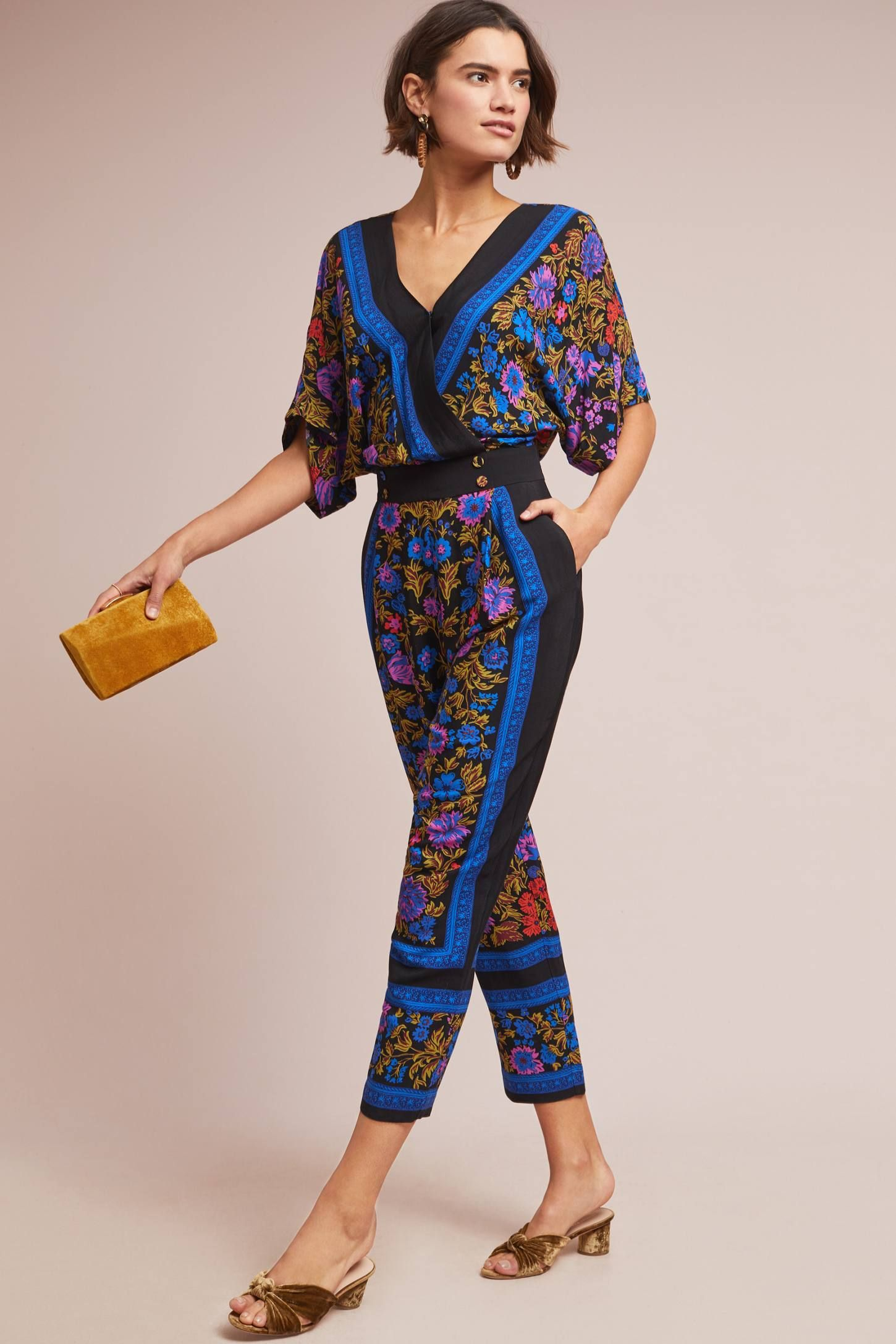 65dc0e4fca Scarf-Printed Jumpsuit in 2019 | My Style | Printed jumpsuit ...