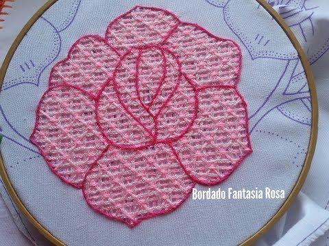 Hand Embroidery Net Stitch Vyshivka Pletenie Igloj Youtube