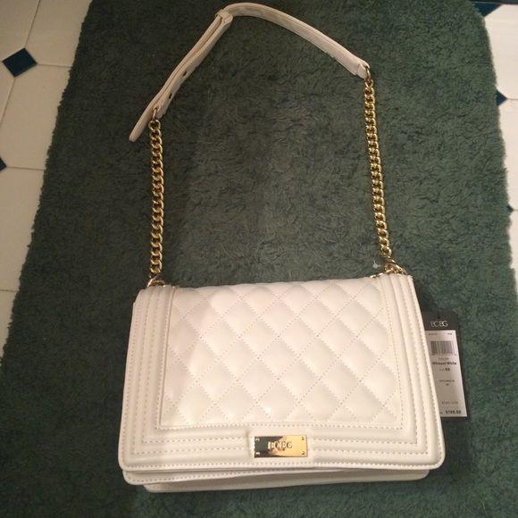 5238a30d9d BCBG SHOULDER BAG NWT BCBG quilted white shoulder bag. Looks just like a  Chanel bag