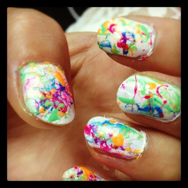 splatter nails! another personal favorite | style is... in 2019 ...