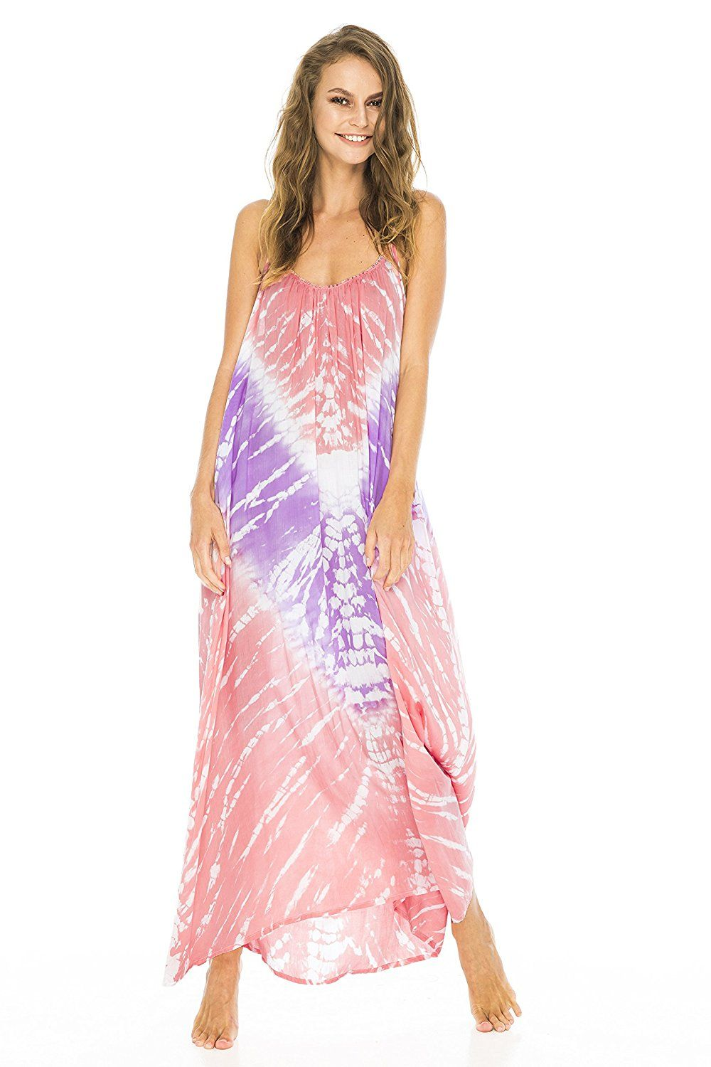 2013dff7cde4 Back From Bali Womens Maxi Summer Dress Sleeveless Tie Dye Pastel with  Beading * Find out more details by clicking the image : homecoming dresses