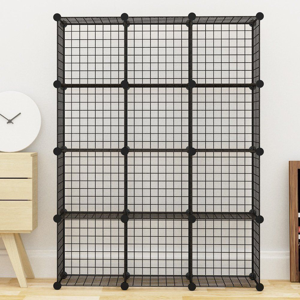 MAGINESL Wire Cube Storage Customizable Metal Shelving Unit Bookcase ...