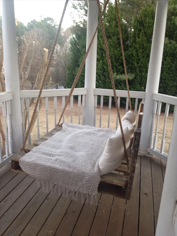 DIY Pallet Swing Bed Pallet Furniture DIY ideas for home