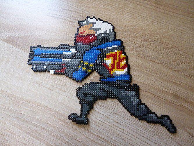 Overwatch : Tag pixel to Perle r- Hanzo - Genji - Widowmaker - Tracer - RoadHog - Junkrat - Reaper - Pharah - Ana - Reinhardt - Torbjorn - Mei -Lucio - Symmestra - Zarya - Winston - Zenyatta - Dv - Bastion: Amazon.es: Handmade