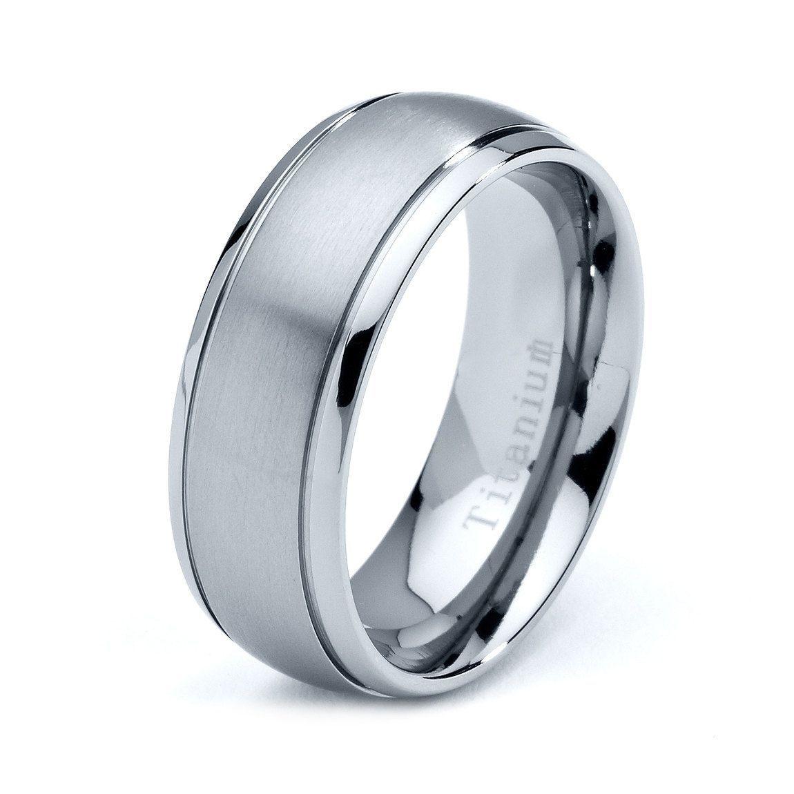Titanium Wedding Band Men Titanium Rings Mens by