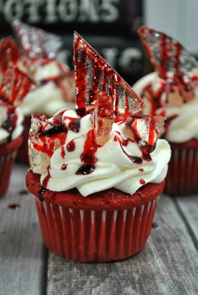 Bloody Halloween Cupcakes- Third Stop on the Right