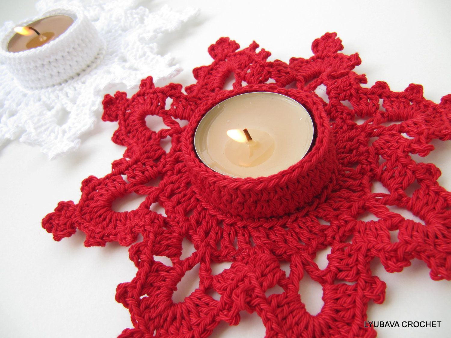 Crochet candle holder melting snowflake turorial crochet pattern crochet candle holder melting snowflake turorial crochet pattern pdf christmas bankloansurffo Image collections