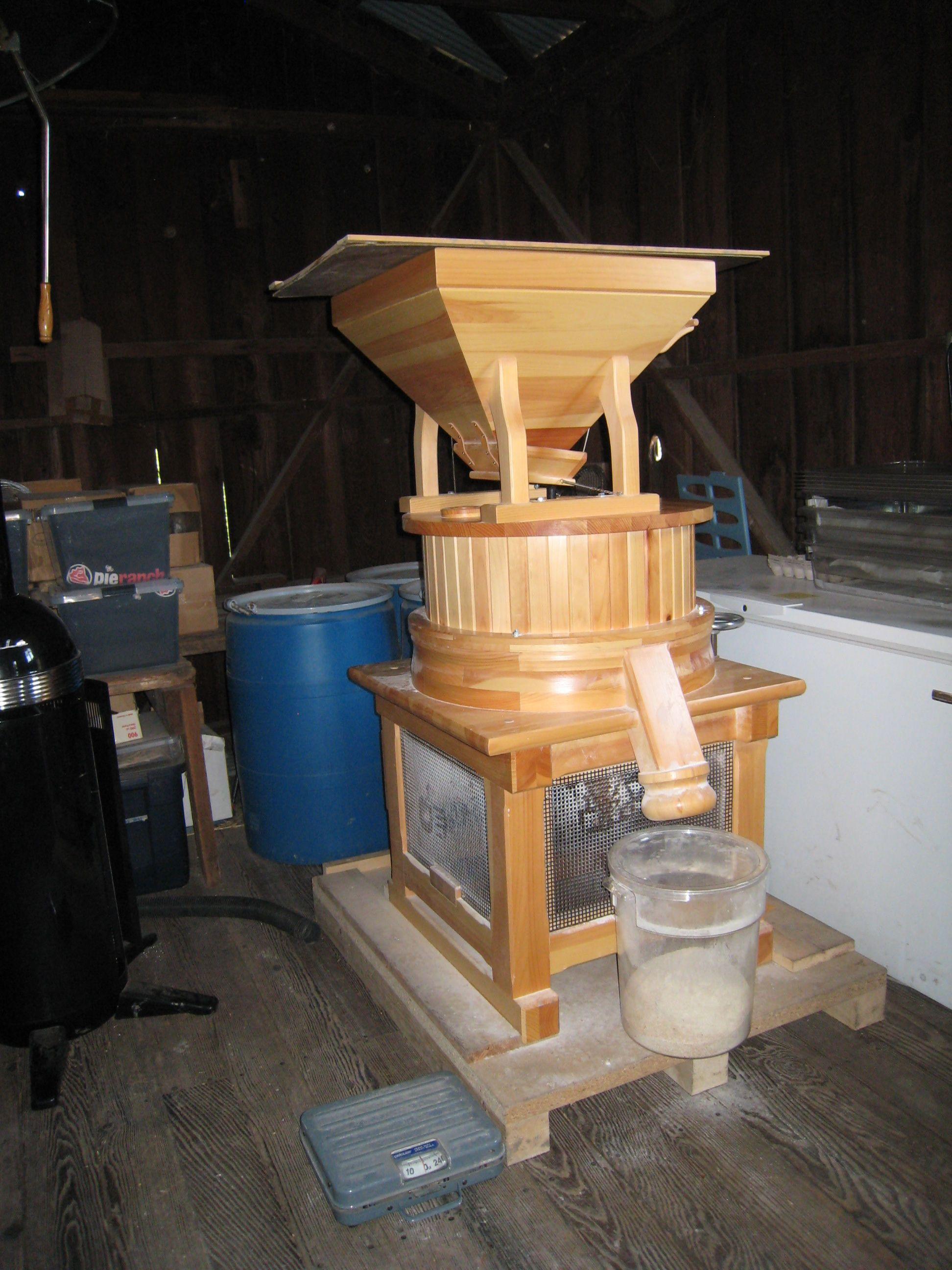 Grain grinder school garden garden design coffee maker