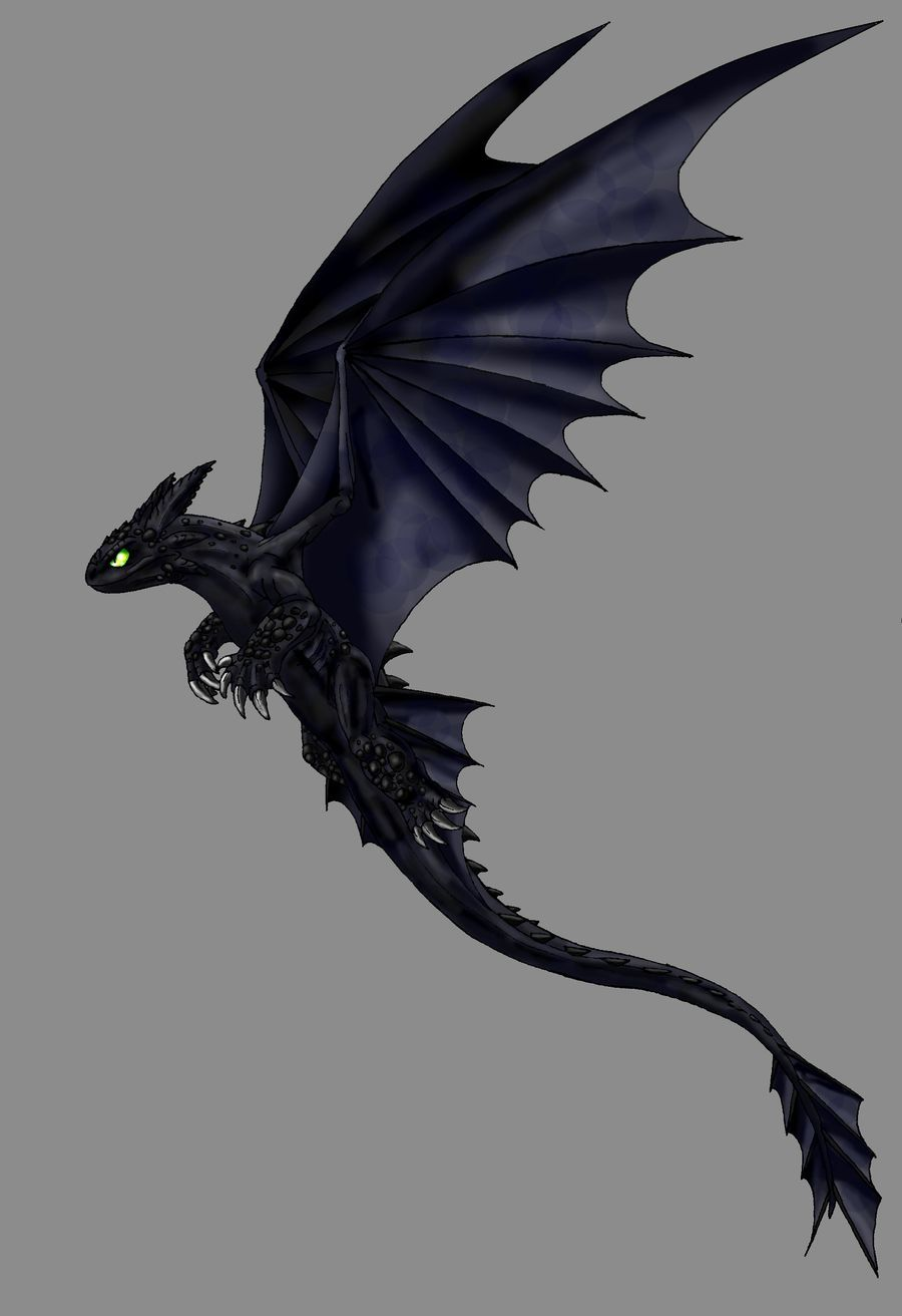 Httyd night fury by scatha the worm dragon le cadeau - Dragons furie nocturne ...