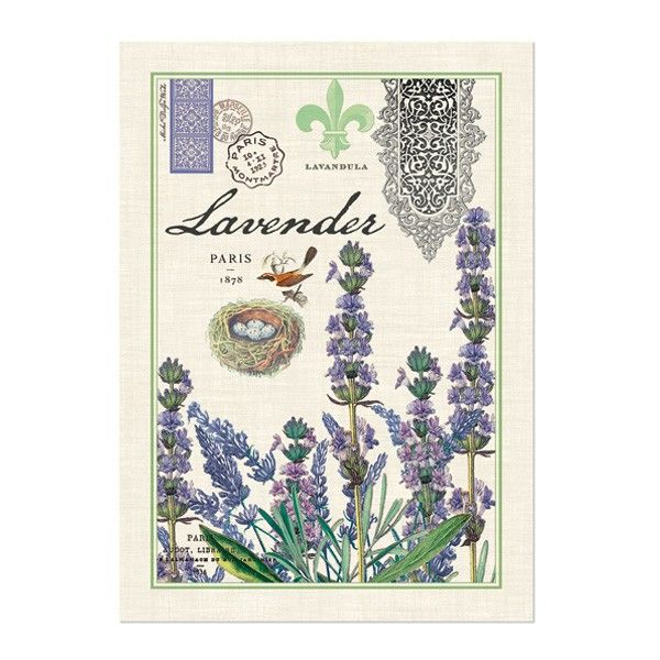 Michel Design Lavender Cotton Decorative Kitchen Towel Lavender