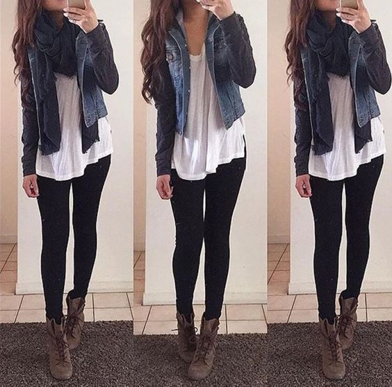 14 outfits con leggings negros para salir con tu novio | moda