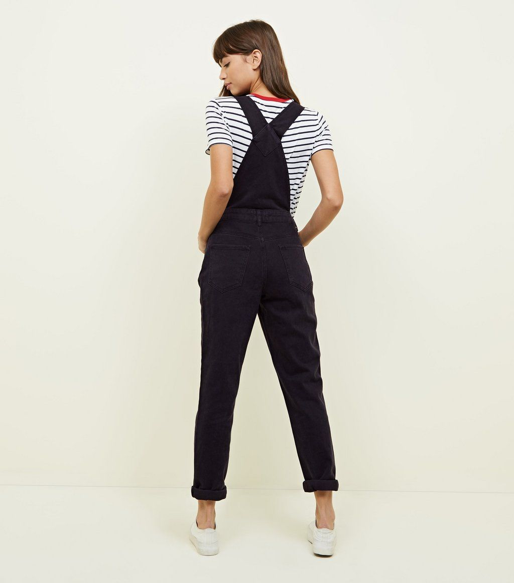 new season famous brand real quality Black Straight Leg Denim Dungarees in 2019 | Alice in ...