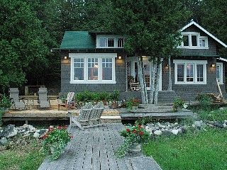 we stayed there great view great place lakefront cedarville rh pinterest com  cottage for rent on lake in michigan