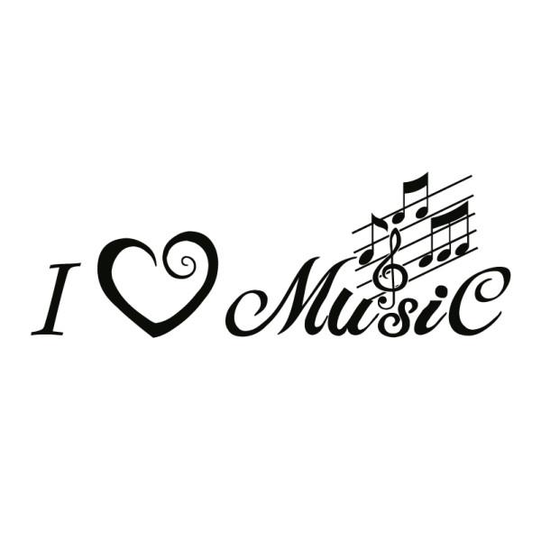 Wandtattoo i love music - Wandtattoos - Musik